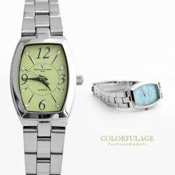 Valentino范倫鐵諾 經典小酒桶馬卡龍色系腕錶手錶 奧地利水鑽 柒彩年代【NE1225】原廠公司貨