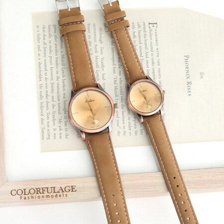 簡約刻度情侶對錶 復刻造型獨家不撞款手錶 柒彩年代【NE1295】單支