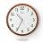 SEIKO精工時鐘 典雅琥珀 圓形夜光掛鐘 滑動式靜音秒針 古色古香 柒彩年代【NE1276】原廠公司貨 0