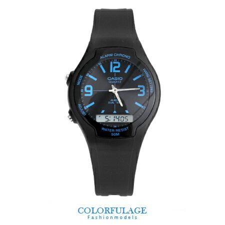CASIO卡西歐 輕量綻放 多功能雙顯電子手錶 休閒運動腕錶 有保固 柒彩年代【NE1281】原廠公司貨 0