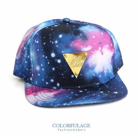 星際宇宙印花 潮流棒球帽 板帽 型男韓系硬挺材質 柒彩年代【NH153】嘻哈類品牌 0