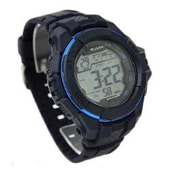 電子錶 JAGA捷卡藍色休閒運動多功能手錶 輕量無負擔 防水100米【NE1303】原廠公司貨