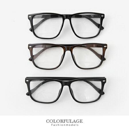 簡約復古風 大框方型設計潮流眼鏡 鏡片可拆 不分男女都可以配戴 柒彩年代【NY266】單支價格 0