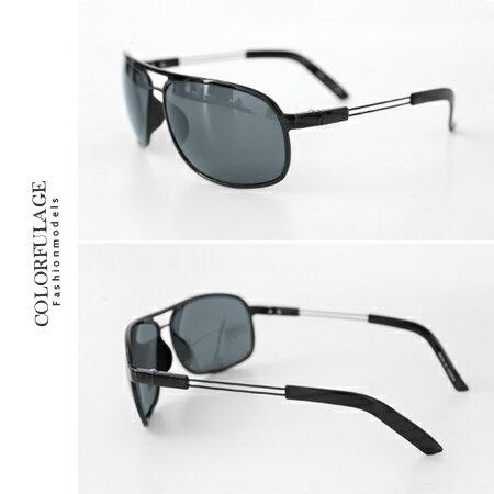 墨鏡 超輕中性方形彈性腳架偏光鏡片太陽眼鏡 抗UV400 柒彩年代【NY267】單支價格