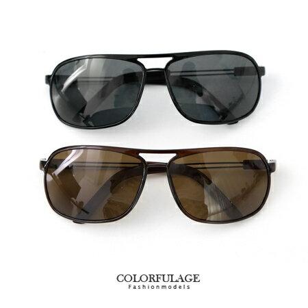 墨鏡 超輕中性方形彈性腳架偏光鏡片太陽眼鏡 抗UV400 柒彩年代【NY267】單支價格 0