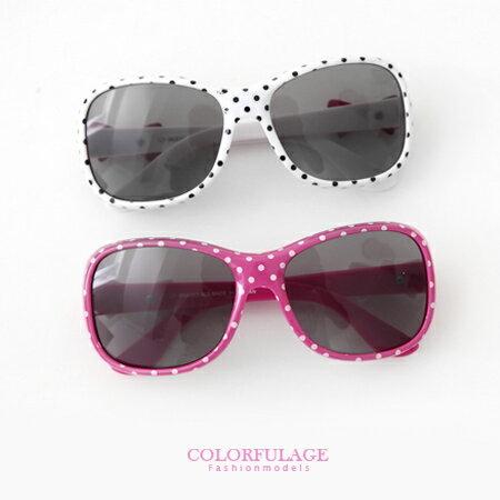 兒童太陽眼鏡 可愛點點側邊蝴蝶結造型兒童墨鏡 抗UV400 歐美藝人風 柒彩年代【NY275】單支 0