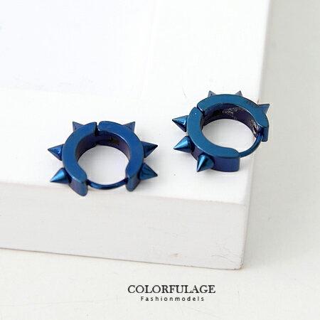 耳針耳環 個性鉚釘耳針款 西德鋼抗過敏跟氧化材質 街頭搖滾風 柒彩年代【ND141】單支價格 0