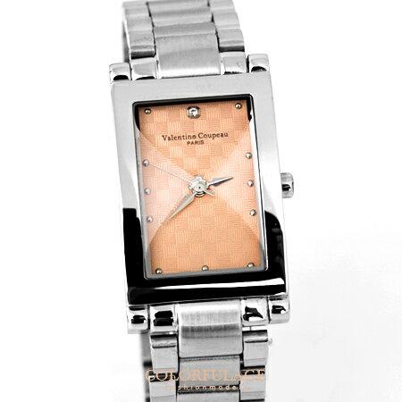 Valentino范倫鐵諾 切割美學玫瑰金經典格紋不鏽鋼手錶腕錶對錶 柒彩年代【NE1291】單支價格 0