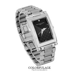 Valentino范倫鐵諾 切割美學黑色經典格紋不鏽鋼手錶腕錶對錶 柒彩年代【NE1292】單支價格
