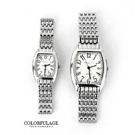 手錶 獨特波紋錶盤酒桶造型不鏽鋼腕錶 原廠公司貨 范倫鐵諾Valentino 柒彩年代【NE1294】單支價格 0
