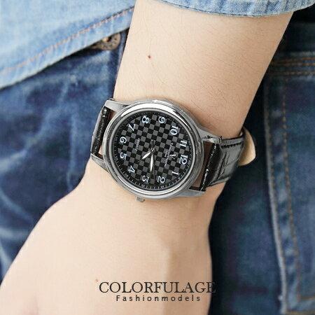 Valentino范倫鐵諾 經典格紋數字真皮手錶腕錶 情人對錶 柒彩年代【NE1088】原廠公司貨 單支