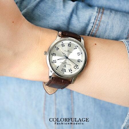 Valentino范倫鐵諾 光碟錶盤設計真皮手錶腕錶 情人對錶 柒彩年代【NE1090】原廠公司貨