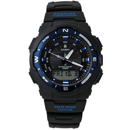 CASIO日本卡西歐SGW進化版多功能登山手錶 溫度方位高機能雙顯腕錶 柒彩年代【NE1337】原廠公司貨