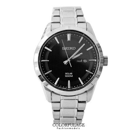 SEIKO 精工錶 都會機能型環保太陽能粗礦腕錶 不鏽鋼防水100米 柒彩年代【NE1352】附贈禮盒+提袋 0