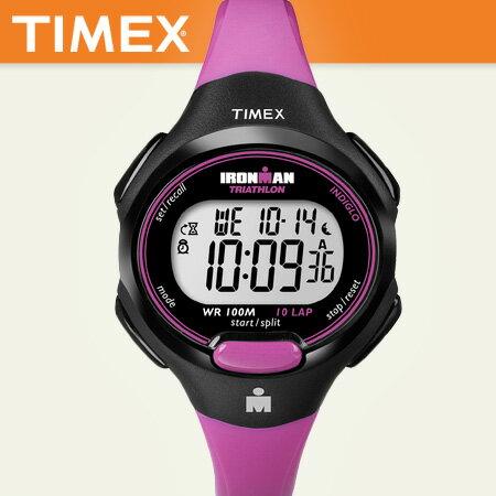 繽紛桃紅路跑專用腕錶100米防水 TIMEX鐵人專業慢跑手錶 柒彩年代【NE1102】原廠公司貨