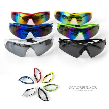 太陽眼鏡 墨鏡 抗UV400 運動必備 舒適軟鼻墊設計 路跑.自行車.登山必備 6色 柒彩年代【NY283】MIT