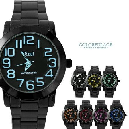 男錶推薦 繽紛立體浮雕刻度中性錶 禮物 【NE1343】單支