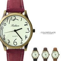 情人對錶推薦到草寫數字塗鴉復刻潮流玩味手錶 大小款式多色可選 中性皮革腕錶  柒彩年代【NE1366】單支就在柒彩年代推薦情人對錶