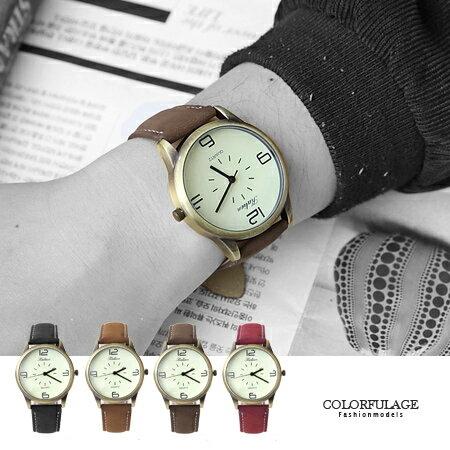 簡約數字復刻潮流百搭手錶 大小款式多色  中性皮革腕錶 柒彩年代【NE1365】單支