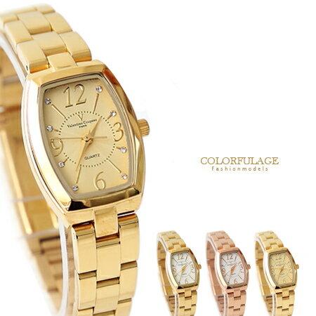 Valentino范倫鐵諾 經典小酒桶玫瑰金腕錶手錶 奧地利水鑽 柒彩年代【NE1356】原廠公司貨 0