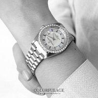 時尚老爸手錶推薦到范倫鐵諾Valentino 背板鏤空自動上鍊機械手錶 銀色滿天星珍珠貝面腕錶 柒彩年代 【NE1360】原廠就在柒彩年代推薦時尚老爸手錶