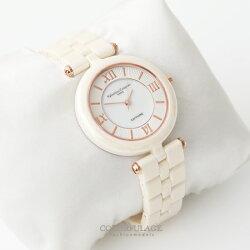 范倫鐵諾Valentino 精密全彩陶瓷羅馬數字刻度珍珠貝面手錶腕錶 柒彩年代【NE1354】原廠公司貨