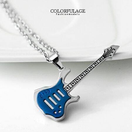 項鍊 rocker 音樂電吉他造型項鏈 西德鋼 抗過敏氧化 彈奏夢想搖擺生活 柒彩年代【NB638】單條價格 0