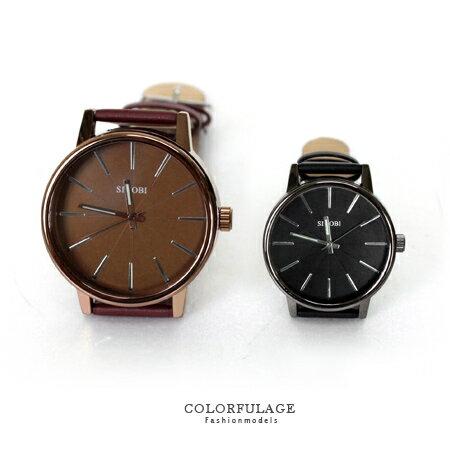 柒彩年代˙現貨不用等【NE440】經典時尚 質感圓形鏡面手錶 簡約素面中性 單隻