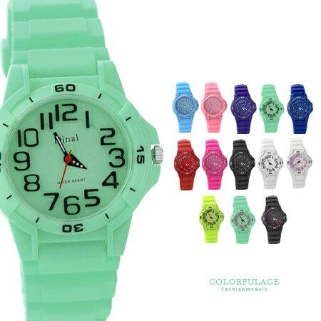 情人節馬卡龍果凍手錶 兒童錶 矽膠中性情侶對錶日本機芯 簡約刻度 柒彩年代【NE929】單支
