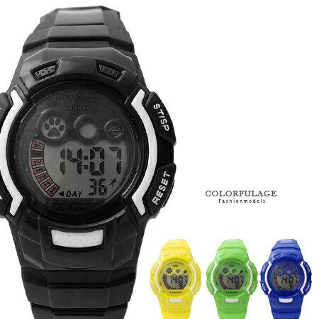 鮮艷色彩多功能電子錶 兒童錶 女孩休閒運動 有冷光.鬧鐘 禮物首選 柒彩年代【NE945】單支 0