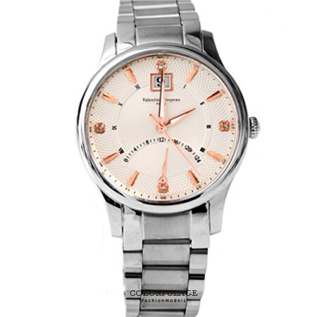 Valentino范倫鐵諾 不鏽鋼手錶腕錶 經典24小時飛返指針功能 藍寶石水晶 柒彩年代【NE1397】單支 0