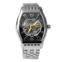 父親節禮物推薦范倫鐵諾Valentino自動上鍊機械腕錶 經典酒桶不鏽鋼手錶 背板鏤空設計 柒彩年代 【NE1398】原廠