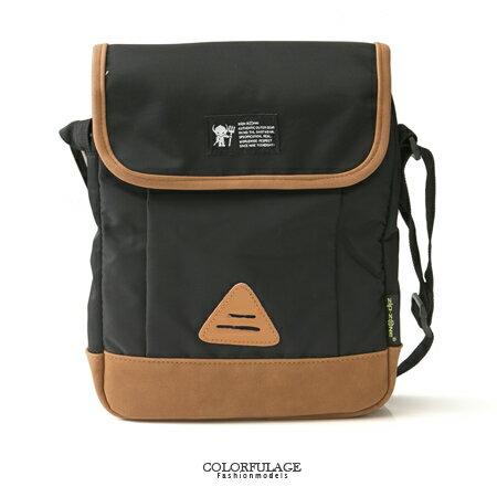 男包 經典基本款造型 輕量的尼龍材 掀蓋式瓷釦側背包 柒彩年代【NZ429】單個