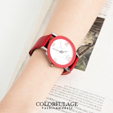 嚴選超凡品味錶款 都會時尚歐系皮革手錶腕錶 中性風格 柒彩年代【NE904】單支 0