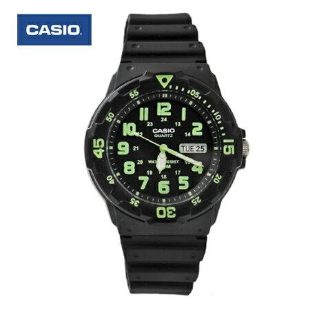 CASIO卡西歐 獨特環保綠色刻度軍裝手錶 休閒運動腕錶 防水100米 柒彩年代【NE1424】原廠公司貨 0
