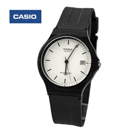CASIO卡西歐 黑白簡約基本款手錶 中性款腕錶 日期顯示 防水50米 柒彩年代【NE1433】原廠公司貨