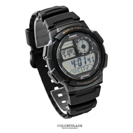 CASIO卡西歐 十年電力多功能電子休閒運動手錶腕錶 防水100米 柒彩年代【NE1448】原廠公司貨 0