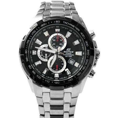CASIO卡西歐EDIFICE系列 時尚三眼賽車主義不鏽鋼腕錶 防水100米手錶 柒彩年代【NE1456】原廠公司貨