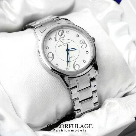 Valentino范倫鐵諾 大數字美學不鏽鋼手錶對錶 原廠公司貨 柒彩年代【NE995】單支