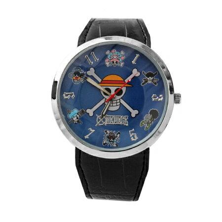 海賊王手錶 草帽海賊旗個性皮革錶 One Piece 品質穩定 禮物首選 柒彩年代【NE1485】原廠平行輸入 0