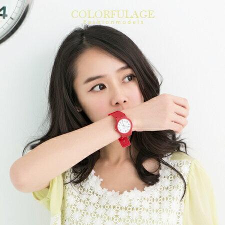 極簡單的素面數字手錶 不分男女都可以配戴 超輕巧矽膠錶帶  柒彩年代【NE966】單支 0