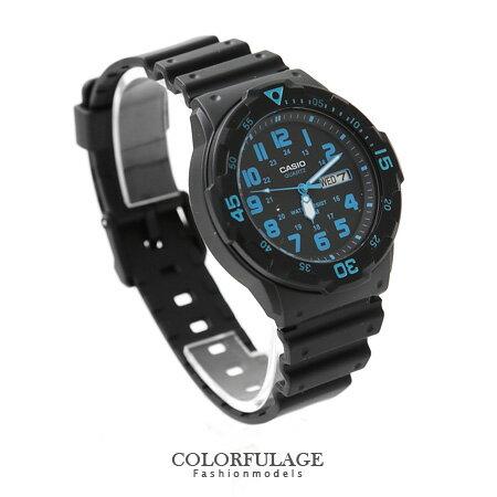CASIO卡西歐 藍極光功能軍裝中性手錶 休閒運動腕錶 防水100米 柒彩年代【NE1137】原廠公司貨 0