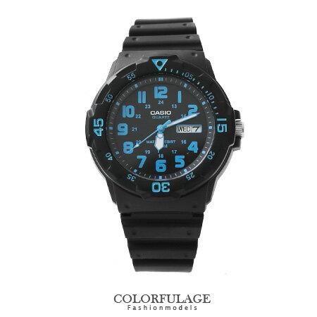 CASIO卡西歐 藍極光 軍裝中性手錶 休閒 腕錶 防水100米 柒彩年代~NE1137~