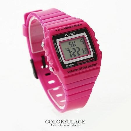 CASIO卡西歐 活力四射 繽紛桃紅電子運動手錶腕錶 有保固 柒彩年代【NE1139】原廠公司貨