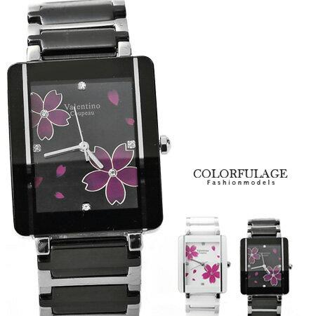 Valentino范倫鐵諾 浪漫櫻花精密陶瓷手錶腕錶 原廠公司貨 柒彩年代【NE1045】單支