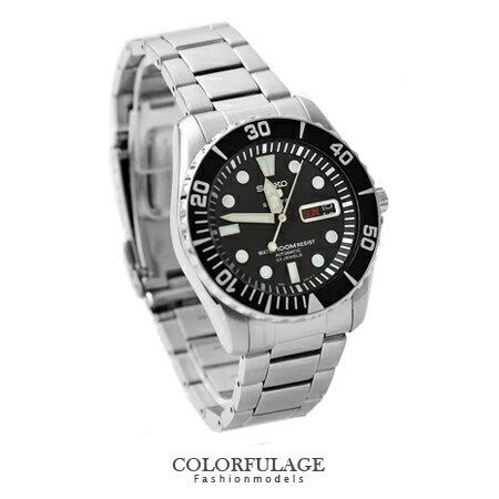 盾牌精工五號SEIKO手錶23石自動上鍊機械錶防水100米柒彩年代【NE1113】附贈禮盒+提袋