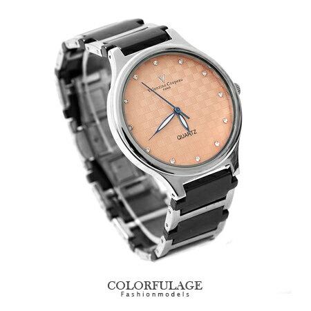 精密陶瓷不銹鋼獨特格紋面板錶款手錶 范倫鐵諾Valentino 柒彩年代【NE1123】原廠公司貨 0