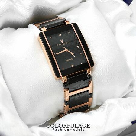 Valentino范倫鐵諾 經典格紋錶盤設計精密陶瓷玫瑰金手錶腕錶 柒彩年代【NE1048】原廠公司貨 0