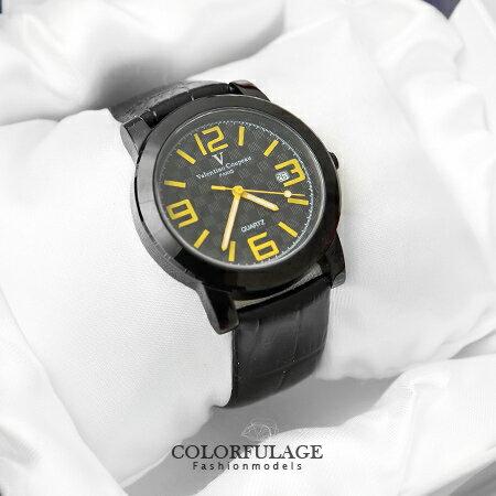 Valentino范倫鐵諾 格紋設計美學數字皮革手錶腕錶 藍寶石鏡面 柒彩年代【NE1131】原廠公司貨 0