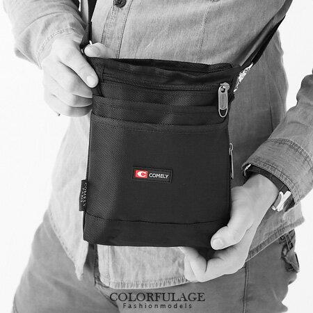 潮流街頭型男腰包.掛包 超實用隨身小物 可當側背包 柒彩年代【NZ350】簡約黑色